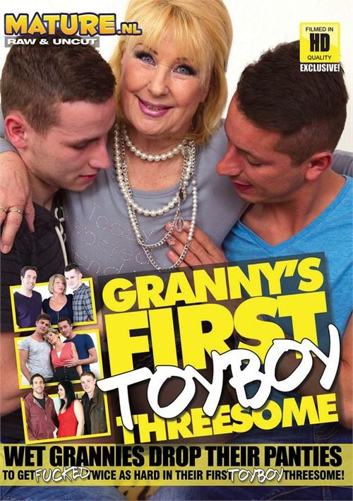 Granny's First Toyboy Threesome