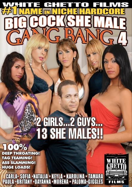 Big Cock She Male Gang Bang #04