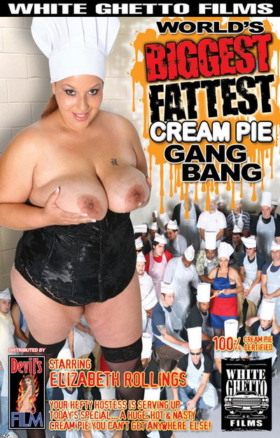 Worlds Biggest Fattest Cream Pie Gang Bang