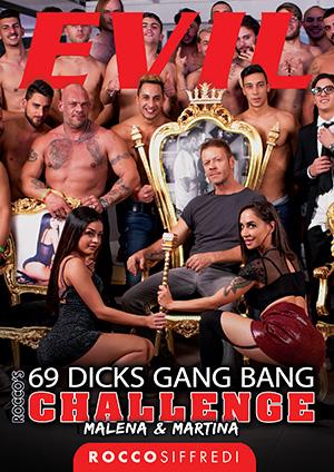 Rocco's 69 dicks Gang Bang Challenge: Malena & Martina DVD