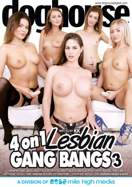 4 On 1 Lesbian Gang Bang #03