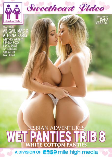 Lesbian Adventures - Wet Panties Trib #08 - White Cotton Panties