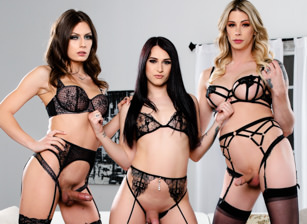Take A Ride On The Trans Train #02 - Casey Kisses,  Khloe Kay & Jade Venus