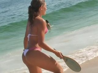 The nasty bikini voyeur video with hotly shaped ga