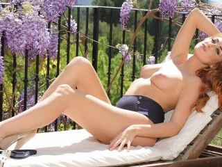 Lucy Anne strips nude on the veranda