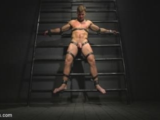 Straight stud wants only bondage but he\'s made to