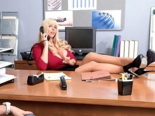 Desk sex with the big-titted supervisor