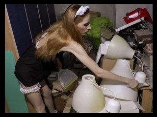 Slutty Maid Tina Cleans Cock
