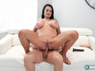 Rita\'s toy and cock air-tight scene