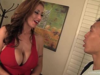 Big Boobs Milf Eva Notty with younger guy in inter