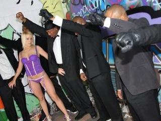 Brittany Angel - Interracial Blowbang