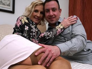 Naughty British housewife doing her strapping love