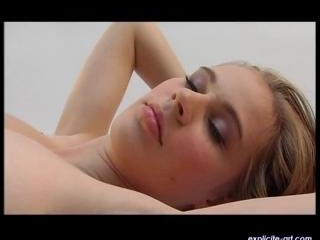 Brina Rachel  : Very tender first lesbian video of