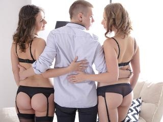 The two girls get fondled by Maia\'s young boyfrien