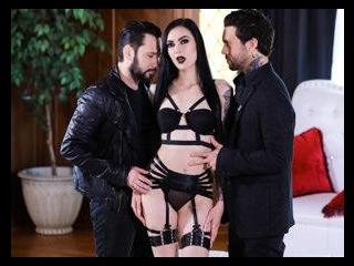 Goth Anal Whores 2 - Marley Brinx Gets DP\'d