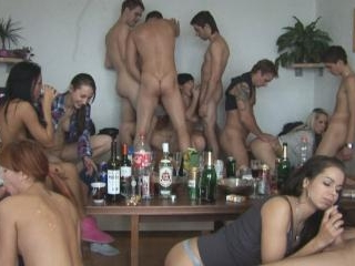 Drunk Amateur Girls Pounded at Hardcore Home Party