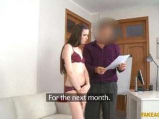 Tall Model Starts Work With Blowjob