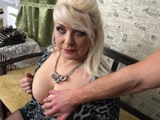 Chubby mature slut fucking in POV style