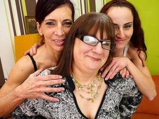 Three naughty and horny mature ladies getting wet