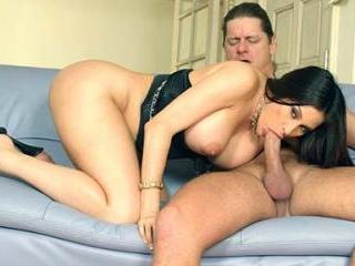 Busty Sheila Marie Rides a Huge Shaft