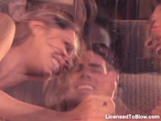 Lindsey Meadows and Austin Kincaid blowjob threeso