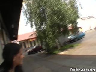 Shy Girl Goes Decent Exposure In Public