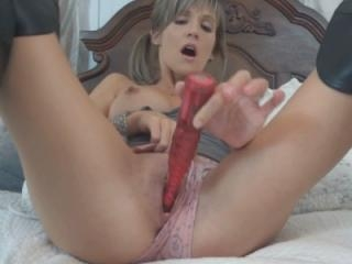 Blonde wife Jolene in black boots while fucking he