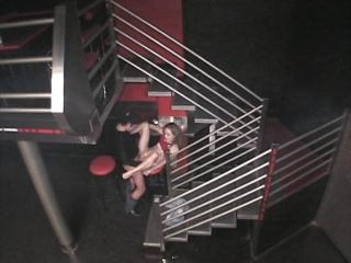Hot fuck scenes from security cam in the club!
