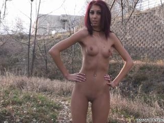 Layla naked in public