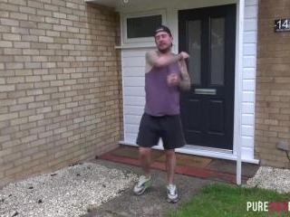 Slutty British babe gets nailed hard by her stepbr