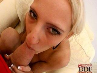 Blonde slut at hardcore casting