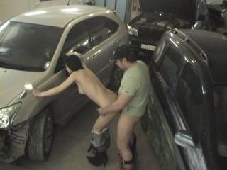 Crazy blowjob and fuck at the parking place!