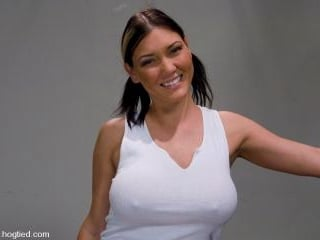 Welcome Claire Dames and her massively huge breast
