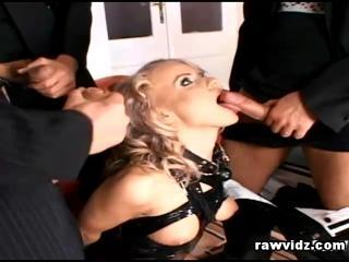 Hot Blonde Dora Venter In BDSM Foursome