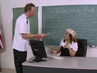 Miss Vanessa Blake Teaches Ass Class