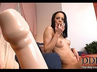 Liz takes on the big toy!