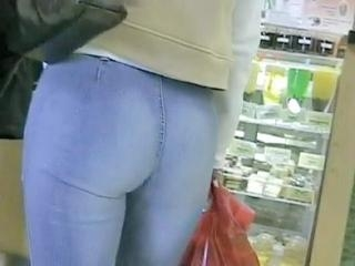 You will hardly find any hotter jeans ass view tha