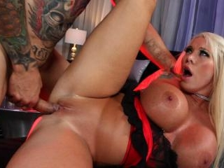 Big boobed Lolly gets a good pounding at the night