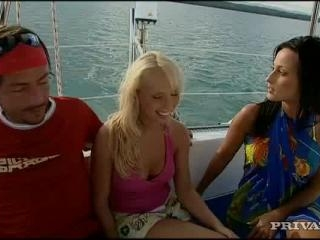 Diana Gold and  Simonne in Dream boat threesome