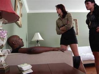 Mahina Zaltana and Nicki Hunter interracial anal