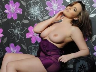 Jodie in her purple lingerie