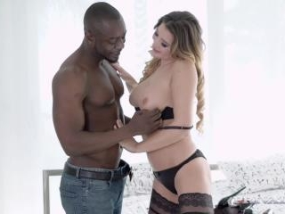 Interracial Session With Anna Polina Finishes With