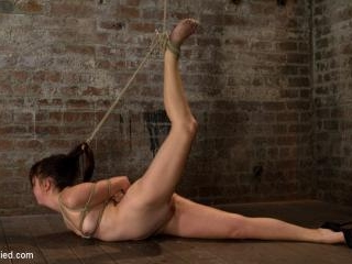 18yr old suffers her first hardcore bondage.Made t