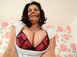 Big breasted British mature slut getting very naug