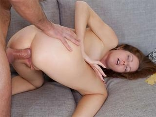 Young lady gets some anal and a cumshot