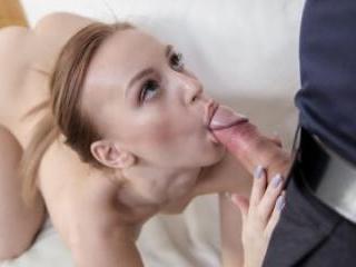Big Facial For Sweet Russian Model