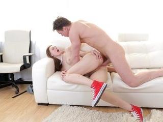 Hot cumshot after first anal