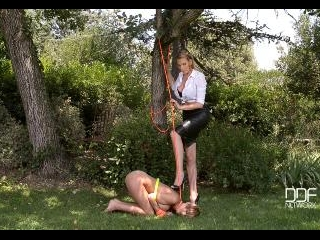 Slave to the Strap-On - Blonde, Bound, and Begging