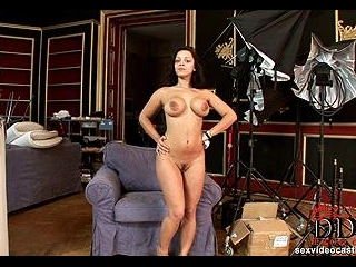 Wild casting solo by sexy newcomer
