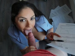 Big Tit Latina Blows Client